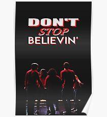 Hör nicht auf Believin - Glee Poster