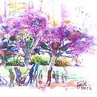 Jacaranda at Circular Quay by ErinHillStudio