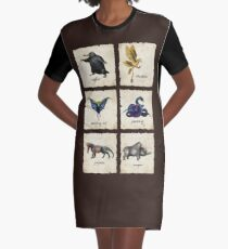 Fantastical Creatures Graphic T-Shirt Dress