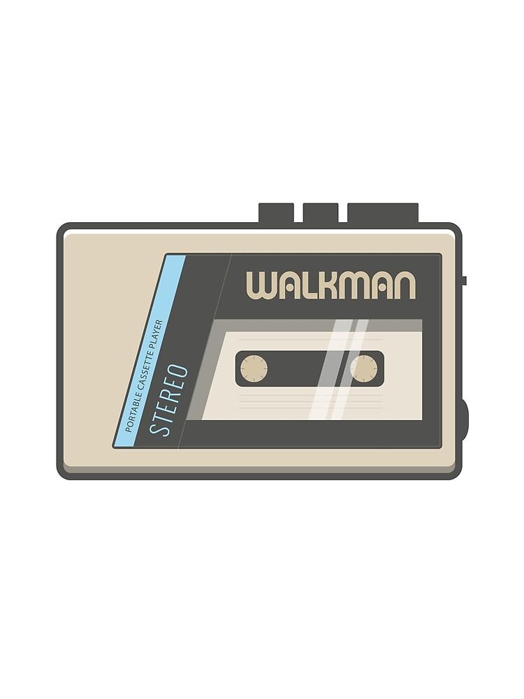 Retro Walkman Music Player 80s Electronics by FlorianRodarte