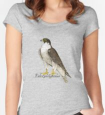 Peregrine Falcon (Falco peregrinus) Fitted Scoop T-Shirt