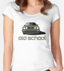 Old School Golf GTI  Women's Fitted Scoop T-Shirt