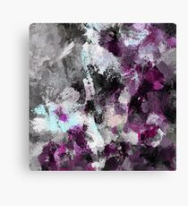 Purple Abstract Art Print Canvas Print