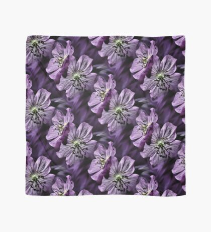 Pretty Purple Flowers Art Scarf