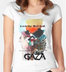 End the Blockade - Free Gaza Women's Fitted Scoop T-Shirt
