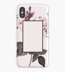 Pink Rectangle Flowers iPhone Case/Skin