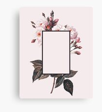 Pink Rectangle Flowers Canvas Print