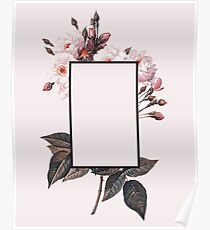 Pink Rectangle Flowers Poster