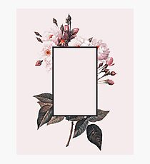 Pink Rectangle Flowers Photographic Print