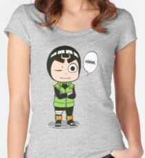 rock lee naruto Women's Fitted Scoop T-Shirt