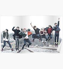 BTS fullteam jump Poster