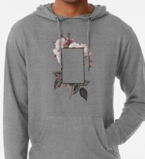 Floral Rectangle Logo Lightweight Hoodie