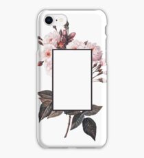 Floral Rectangle Logo iPhone Case/Skin