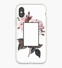 Vinilo o funda para iPhone Logotipo floral del rectángulo