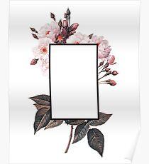 Floral Rectangle Logo Poster