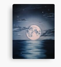 The Moon That Soothed The Siren Canvas Print