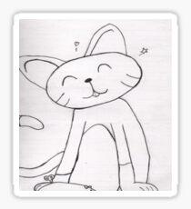 Pencil Cat  Sticker