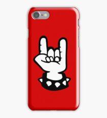 rock hand metal roll music iPhone Case/Skin