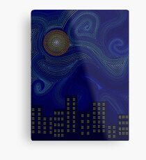 Dashed Night Metal Print