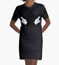 rock hand metal roll music Graphic T-Shirt Dress