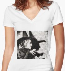 Wicked Witch, Wizard of Oz Women's Fitted V-Neck T-Shirt