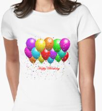 Happy Birthday Balloons Women's Fitted T-Shirt
