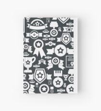 Medal a background Hardcover Journal