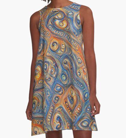 Blue Orange #DeepDream A-Line Dress