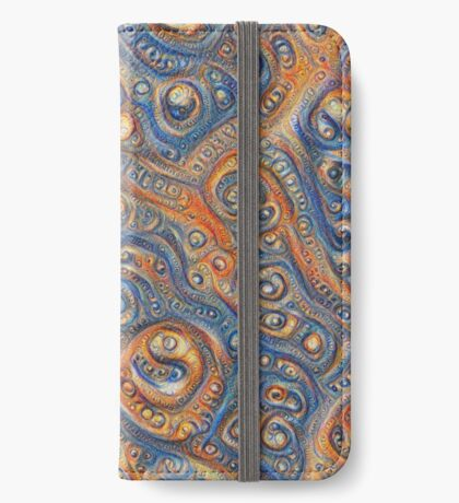 Blue Orange #DeepDream iPhone Wallet