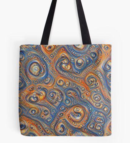 Blue Orange #DeepDream Tote Bag