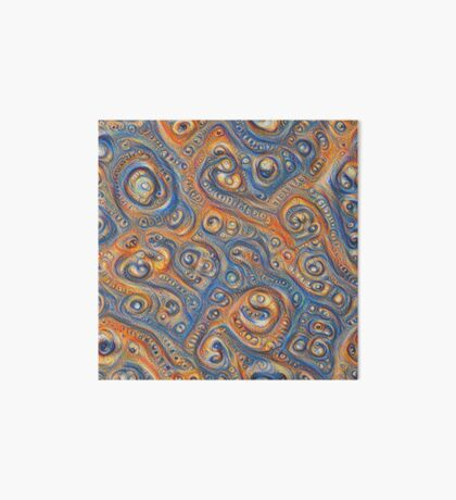 Blue Orange #DeepDream Art Board Print