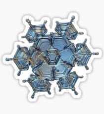 Flying castle, real snowflake macro photo Sticker