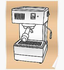 Espresso Machine Doodle Poster