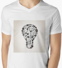 Sports a bulb Men's V-Neck T-Shirt