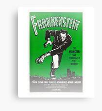 Frankenstein Monster Boris Karloff Design Canvas Print