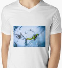 Cryotherapy Ice Climbing Men's V-Neck T-Shirt