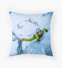 Cryotherapy Ice Climbing Throw Pillow
