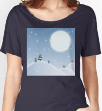 Winter Snow Scene Women's Relaxed Fit T-Shirt