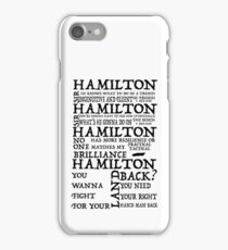 Guns and Ships Hamilton Lyrics iPhone Case/Skin