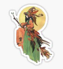 Autumn Witch Sticker