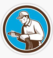 Home Insulation Technician Retro Circle Sticker