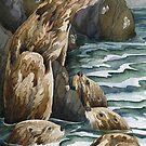 Otters II by Andrea Gabriel