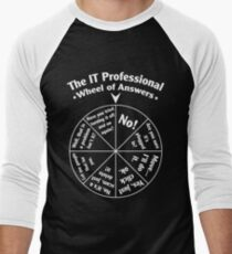 The IT Professional Wheel of Answers. Men's Baseball ¾ T-Shirt