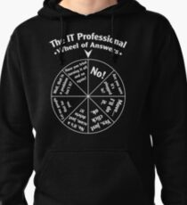 The IT Professional Wheel of Answers. Pullover Hoodie