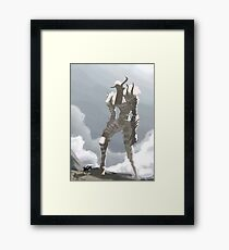 Shadow of the colossus inspired painting Framed Print