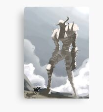 Shadow of the colossus inspired painting Canvas Print