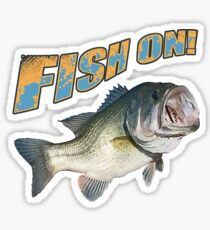 Fish on Bass color  Sticker