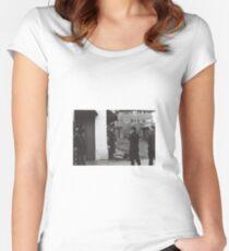 homeless man venice beach Women's Fitted Scoop T-Shirt
