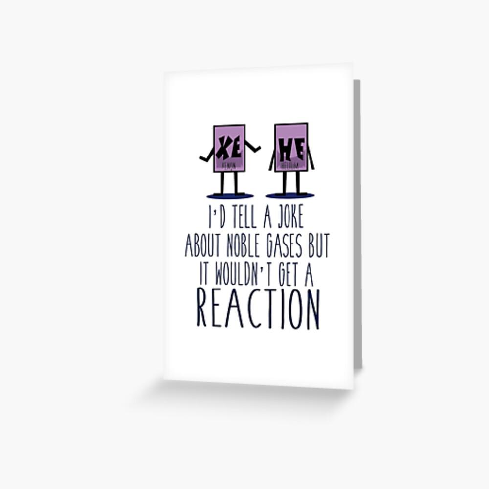 Xe He Chemie Wortspiel Grußkarte