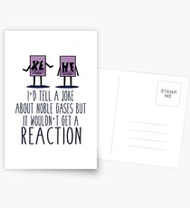 Xe He Chemie Wortspiel Postkarten